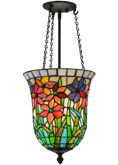 "Meyda Lighting 146084 11""W Spring Bouquet Inverted Pendant"
