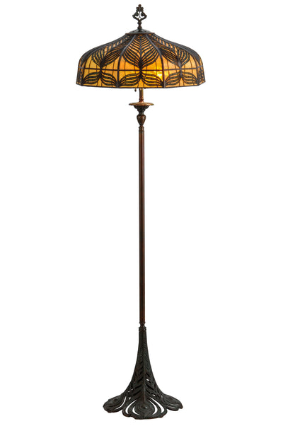 "Meyda Lighting 146206 63""H Original Handel Peacock Floor Lamp"