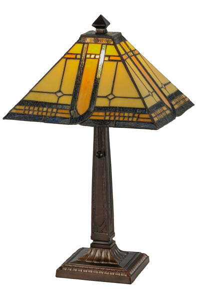 "Meyda Lighting 147482 21""H Sierra Prairie Mission Table Lamp"