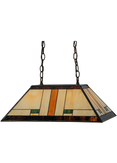 "Meyda Lighting 147783 21""L Manhattan Oblong Pendant"