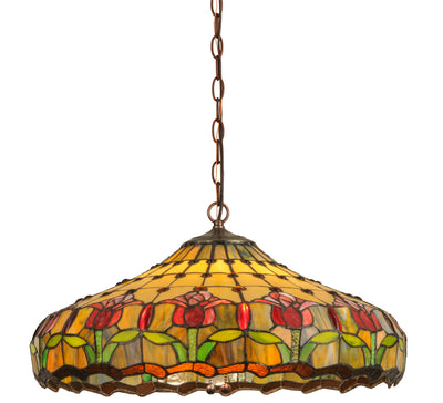 "Meyda Lighting 148431 22""W Colonial Tulip Pendant"
