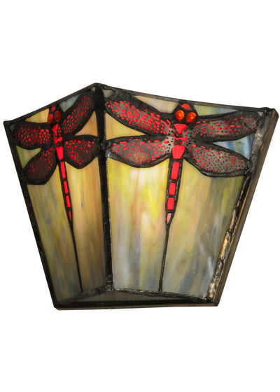 "Meyda Lighting 150875 7.5""W Prairie Dragonfly Wall Sconce"
