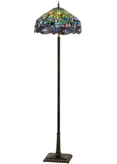 "Meyda Lighting 151154 67""H Tiffany Hanginghead Dragonfly Floor Lamp"