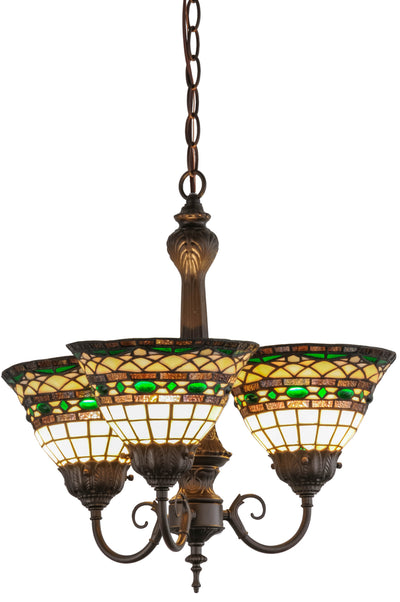 "Meyda Lighting 158700 20""W Tiffany Roman 3 LT Chandelier"
