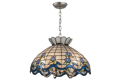 "Meyda Lighting 165806 20""W Roseborder Pendant"