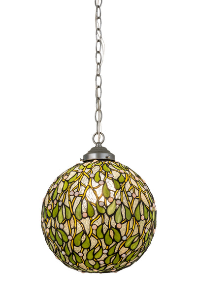 "Meyda Lighting 172428 12""W Mistletoe Ball Pendant"