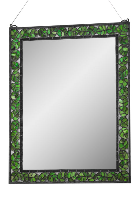 "Meyda-Lighting-178016-28""W-X-36""H-Oak-Leaf-Mirror"