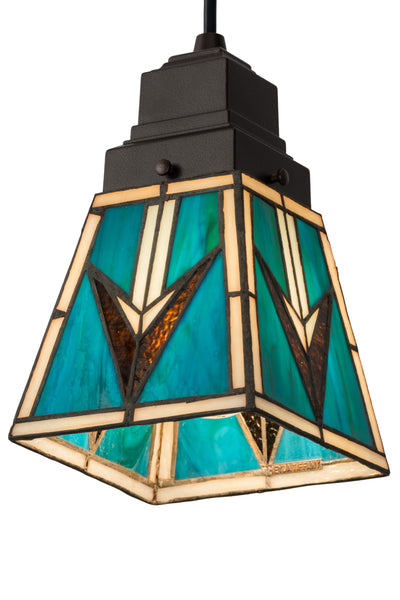 "Meyda Lighting 181346 5""Sq Valencia Mission Mini Pendant"