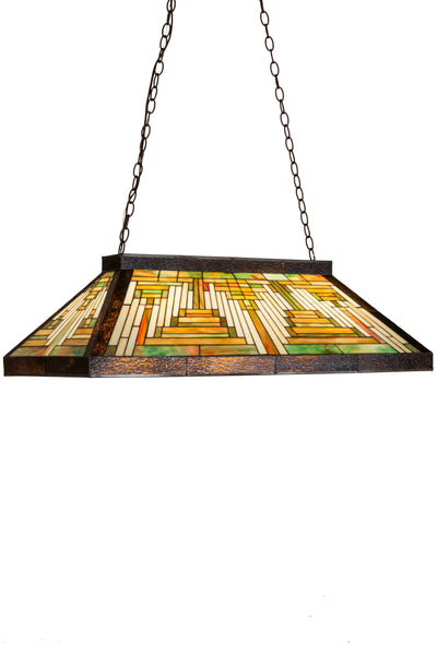"Meyda Lighting 186034 39""L Nuevo Mission Oblong Pendant"
