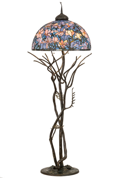 "Meyda Lighting 190745 75""H Tiffany Magnolia Floor Lamp"