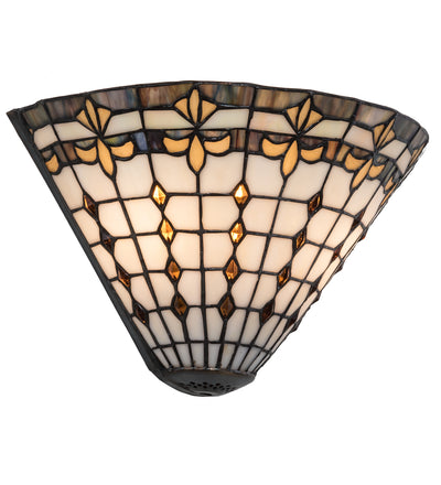"Meyda Lighting 191542 12""W Fleur de Lite Wall Sconce"