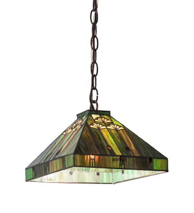 "Meyda Lighting 195313 10""Sq Ginkgo Pendant"
