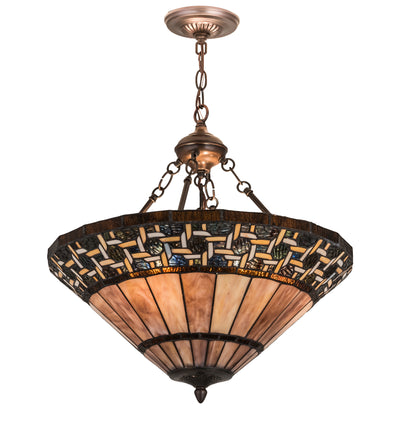 "Meyda Lighting 197687 20""W Ilona Inverted Pendant"