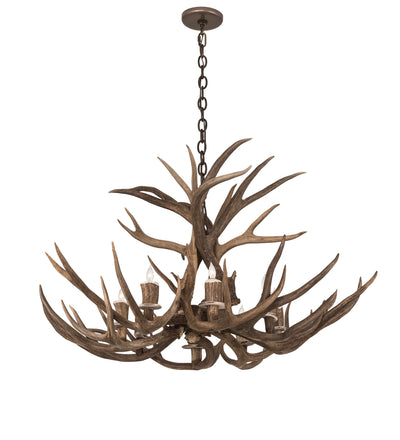 "Meyda Lighting 200431 38"" Wide Antlers Deer 8 LT Chandelier"