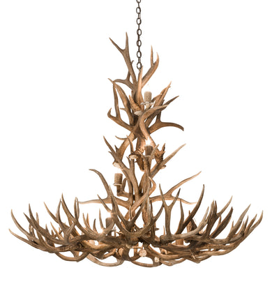 "Meyda Lighting 200432 52"" Wide Antlers Mule Deer 12 LT Chandelier"