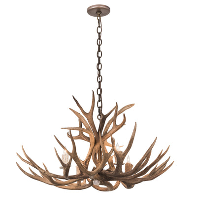 "Meyda Lighting 200437 33"" Wide Antlers Whitetail Deer 4 LT Chandelier"