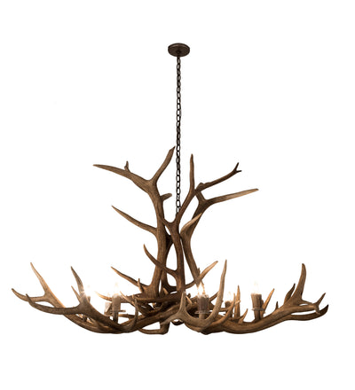 "Meyda Lighting 200452 66"" Wide Antlers Elk 8 LT Chandelier"