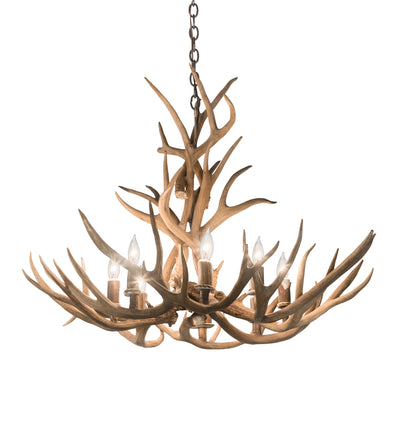 "Meyda Lighting 200453 32"" Wide Antlers Mule Deer 8 LT Chandelier"