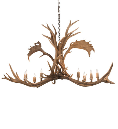 "Meyda Lighting 200454 64"" Long Antlers Elk & Fallow Deer 8 LT Chandelier"