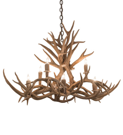 "Meyda Lighting 200456 39"" Long Antlers Mule Deer 8 LT Chandelier"