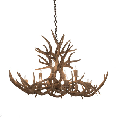 "Meyda Lighting 200459 45"" Long Antlers Mule Deer 10 LT Chandelier"