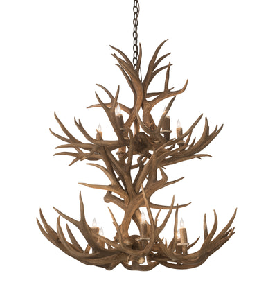 "Meyda Lighting 200461 36"" Wide Antlers Mule Deer 12 LT Chandelier"