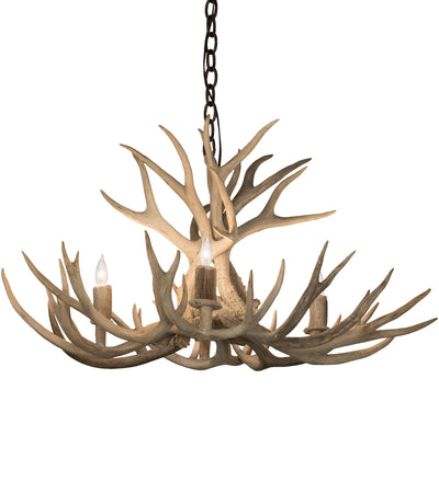 "Meyda Lighting 200464 32"" Wide Antlers Whitetail Deer 4 LT Chandelier"