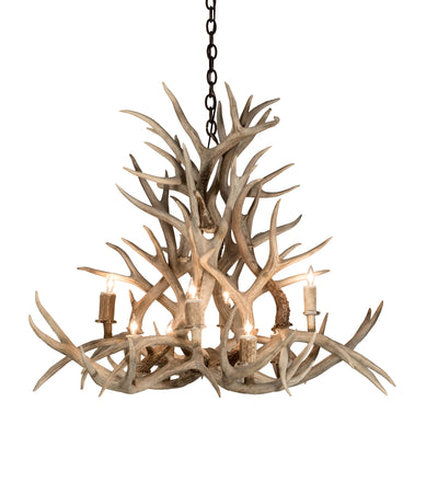 "Meyda Lighting 200465 38"" Wide Antlers Mule Deer 8 LT Chandelier"