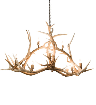 "Meyda Lighting 200467 66.5"" Long Antlers Elk 10 LT Oblong Chandelier"