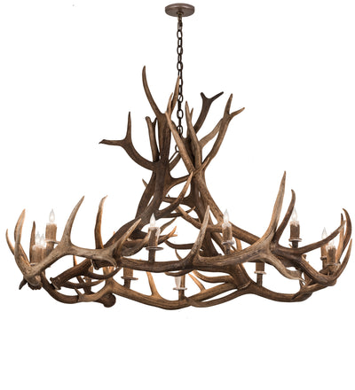 "Meyda Lighting 200468 56"" Wide Antlers Elk 12 LT Chandelier"