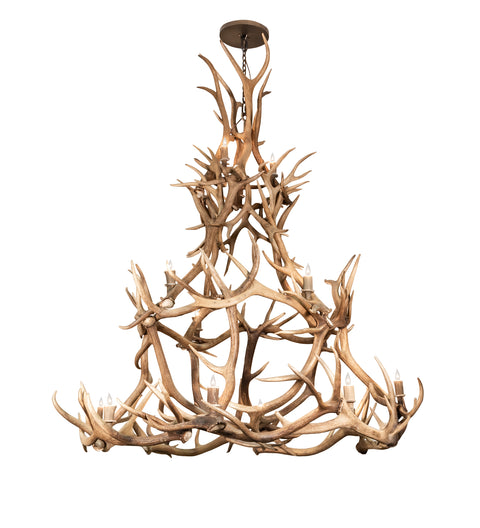 "Meyda Lighting 212273 72"" Wide Antlers Elk Chandelier"