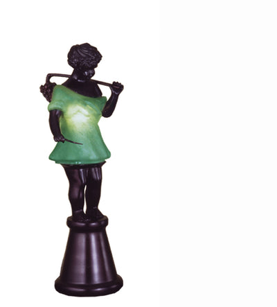 "Meyda Lighting 24092 15.5""H Silhouette Bacchus Boy Accent Lamp"