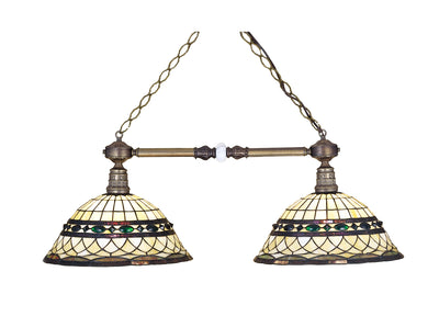 "Meyda Lighting 27408 38""L Tiffany Roman 2 LT Island Pendant"