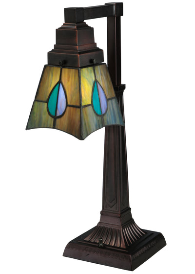 "Meyda Lighting 27637 19.5""H Mackintosh Leaf Desk Lamp"