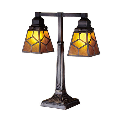 "Meyda Lighting 27879 20"" High Diamond Craftsman 2 Arm Desk Lamp"