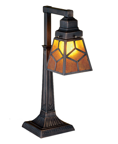 "Meyda Lighting 27881 20"" High Diamond Craftsman Desk Lamp"
