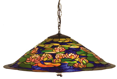 "Meyda Lighting 47717 24""W Tiffany Pond Lily Pendant.602"