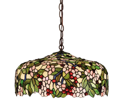 "Meyda Lighting 47906 20""W Tiffany Cherry Blossom Pendant"