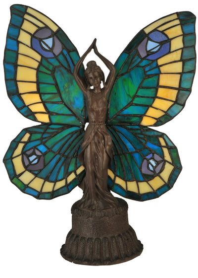 "Meyda Lighting 48019 17""H Butterfly Lady Accent Lamp"