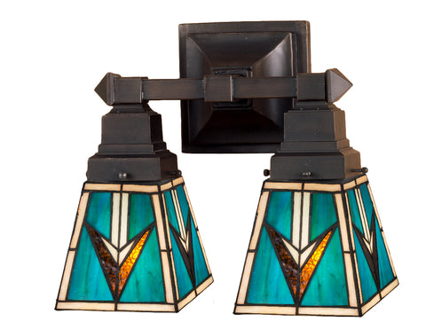 "Meyda Lighting 48182 12""W Valencia Mission 2 LT Wall Sconce"