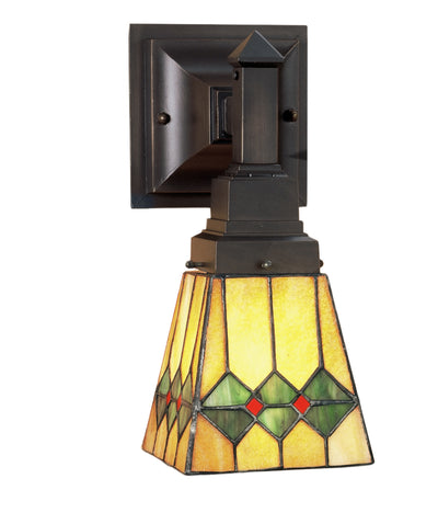 "Meyda Lighting 48189 5""W Martini Mission Wall Sconce"