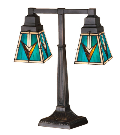 "Meyda Lighting 48200 20""H VALENCIA Mission 2 Arm Desk Lamp"