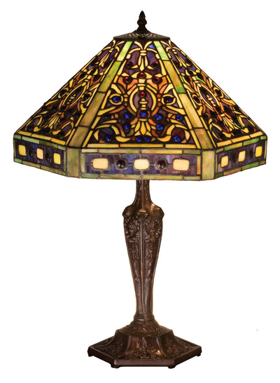 "Meyda Lighting 48832 23.5""H Tiffany Elizabethan Table Lamp"