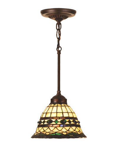 "Meyda Lighting 48921 8""W Tiffany Roman Mini Pendant.602"