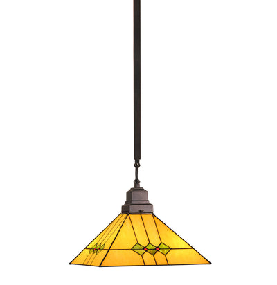 "Meyda Lighting 49115 13""Sq Martini Mission Pendant"