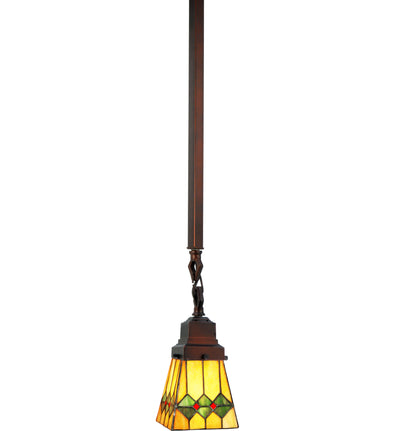 "Meyda Lighting 49119 5""Sq Martini Mission Mini Pendant"