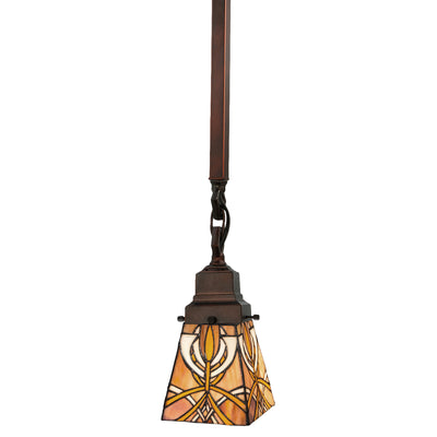 "Meyda Lighting 49134 5""Sq Glasgow Bungalow Mini Pendant"