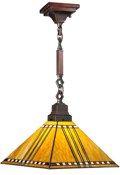 "Meyda Lighting 49154 13""Sq Prairie Corn Pendant.609"