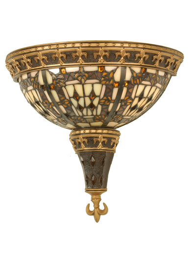 "Meyda Lighting 50241 18""W Fleur de lis Wall Sconce.604"