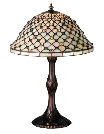"Meyda Lighting 52010 20""H Diamond & Jewel Table Lamp"